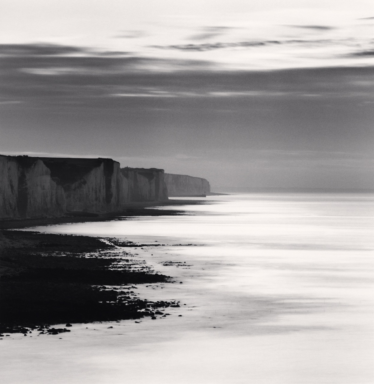 Michael Kenna Ault Cliffs, Study 1, Picardy, France 2009 Sepia Toned Silver Gelatin Print From An Edition Of 45 8 x 8 Inches