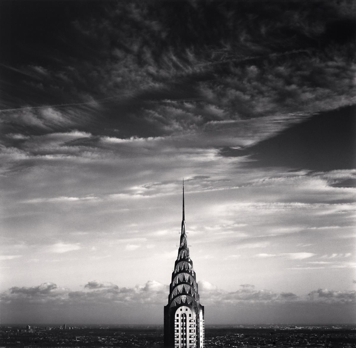 Michael Kenna Chrysler Building, Study 3, New York, New York, USA 2006 Sepia Toned Silver Gelatin Print From An Edition Of 45 8 x 8 Inches