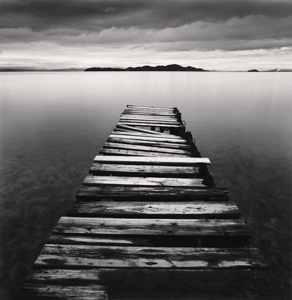 Michael Kenna Crumbling Boardwalk, Shiga, Honshu, Japan 2003 Sepia Toned Silver Gelatin Print From An Edition Of 45 8 x 8 Inches
