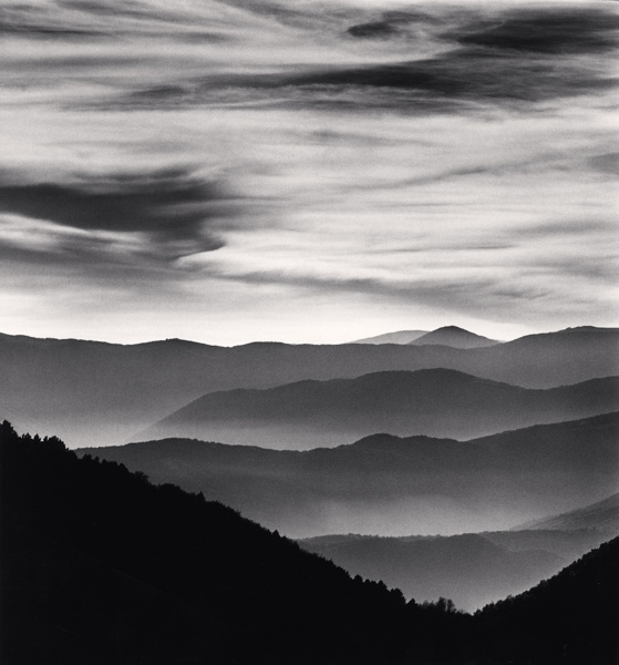 Michael Kenna Distant Mountains, Passo delle Capannelle, Pizzoli, Abruzzo, Italy 2015 Sepia Toned Silver Gelatin Print From An Edition Of 25 8 x 8 Inches