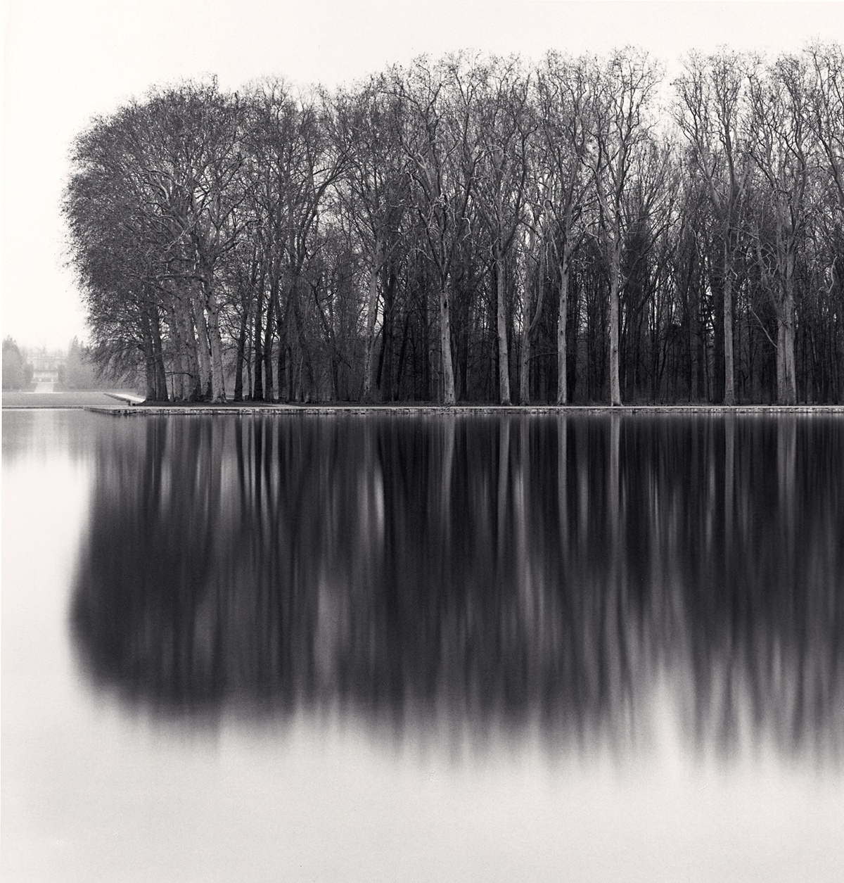Michael Kenna Octagonal Basin, Sceaux, France 1996 Sepia Toned Silver Gelatin Print From An Edition Of 45 8 x 8 Inches