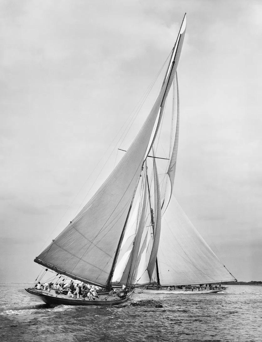 Beken Of Cowes, Sailing Yacht Meteor II & Ailsa, 1911