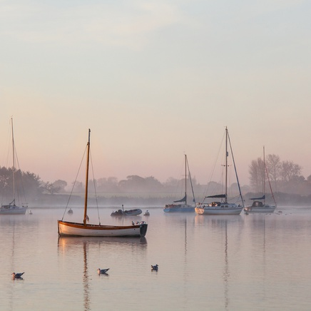 Luke Whitaker, Misty Morning, Chichester Harbour