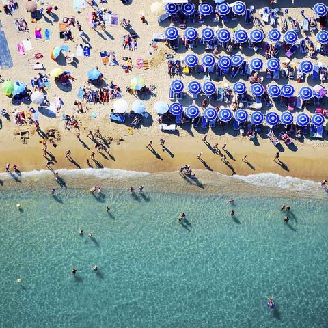 Blue Umbrellas, St. Tropez